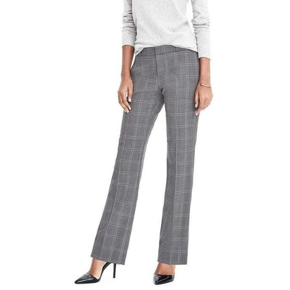13d20eef Banana Republic Logan Fit Plaid LW Wool Pants NWT